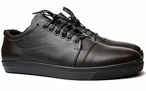 Шкіряні кросівки чоловічі кеди коричневі весняна взуття демісезонне Rosso Avangard Gushe Brown