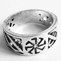 "Кольцо ""Коловрат"". Перстень оберег. Размер 19."