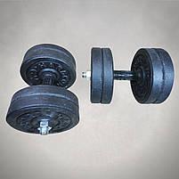 Гантелі 11 кг х2 (25 мм), фото 2