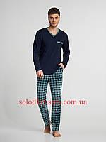 Піжама чоловіча ELLEN штани+реглан Зелена Клітинка 043/001