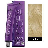 L-00 Краска для волос Schwarzkopf Professional Igora Royal Fashion Lights - Блонд натуральный - 60 мл