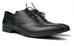 Lord Protector Rosso Avangard черные мужские туфли броги из натуральной кожи обувь классическая