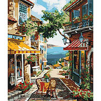 """Городской пейзаж """"Столик на двоих"""" 40*50см KHO2197"""