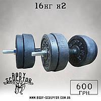 Гантелі 16 кг х2 (25 мм)