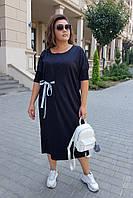 Женское трикотажное платье большого размера.Размеры:42-62, фото 1