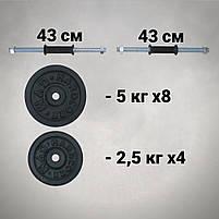 Гантелі 26 кг х2 (25 мм), фото 3