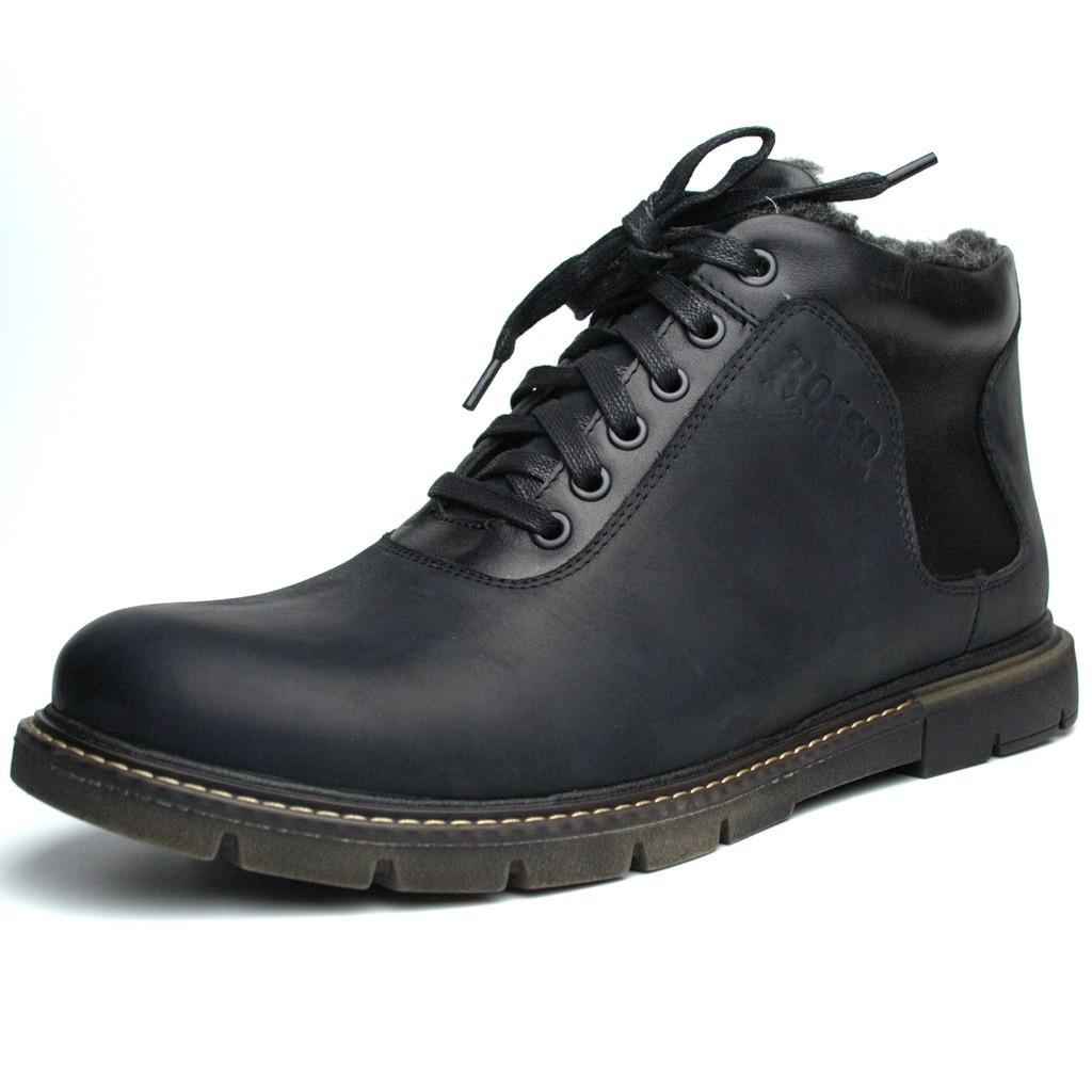 Ботинки зимние черные мужские кожаные Rosso Avangard Ragnarr Black Asfa
