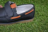 Туфли мокасины детские кожаные черные р32-37, фото 4