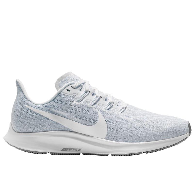 Кроссовки Nike Air Zoom Pegasus 36 White/ Half Blue/ Grey AQ2210-100 серые женские
