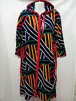 Велюровый женский халат с капюшоном Турция XL-5XL