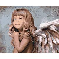 """Картина по номерам. Дети """"Маленький ангелочек"""" 40*50см KHO2309"""