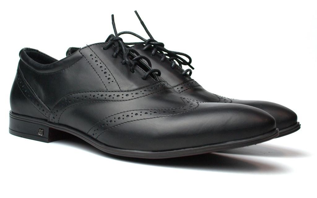 Lord Protector Rosso Avangard черные мужские туфли больших размеров броги из натуральной кожи