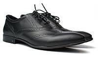 Lord Protector Rosso Avangard черные мужские туфли больших размеров броги из натуральной кожи, фото 1