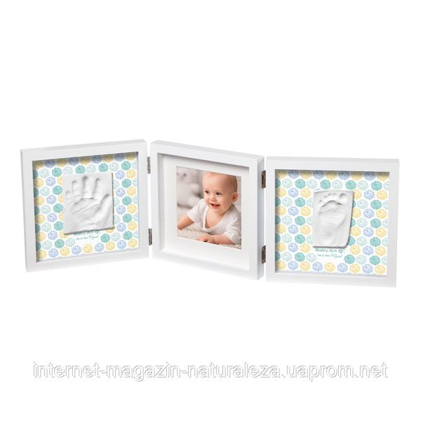 Рамка для фото Baby Art Double Print Frame Стиль белая