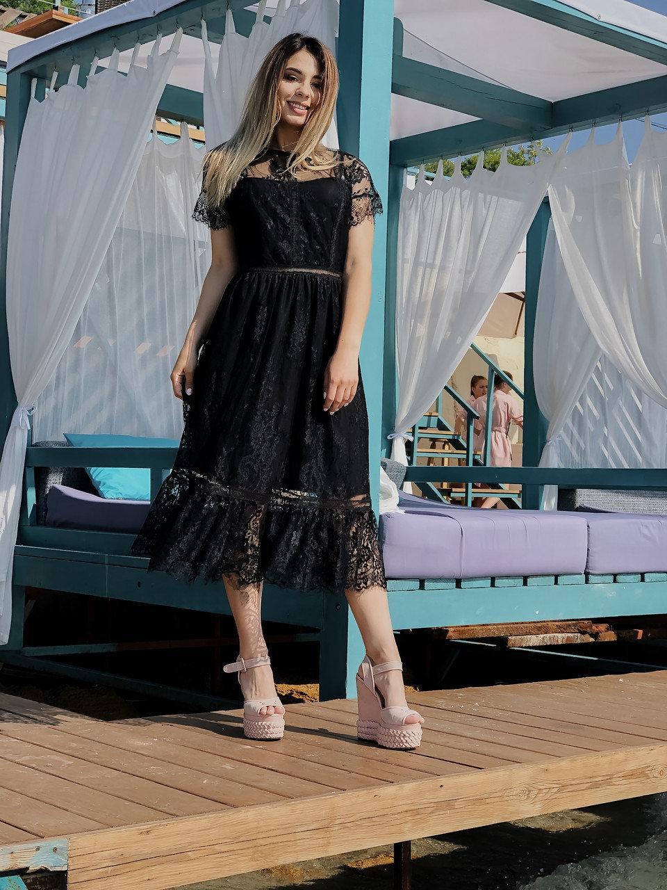 Женское кружевное платье.Размеры:42-48.