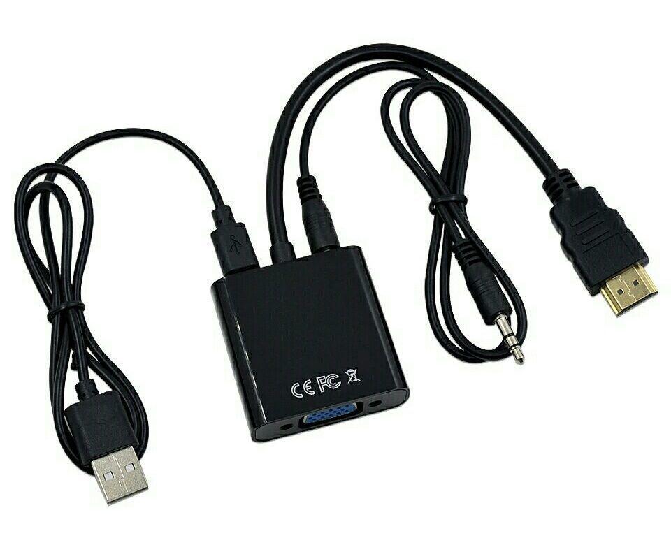 HDMI в VGA адаптер конвертер видео аудио переходник на tv тюнер T2 Xbox с бокс преобразователь Playstation 3 4