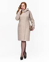Демисезонное пальто с капюшоном большие размеры рр 50-62