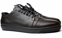 Большой размер кожаные коричневые кроссовки мужские кеды Rosso Avangard Gushe Brown BS, фото 1