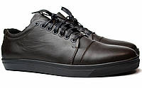 Кожаные коричневые кроссовки кеды мужская обувь больших размеров Rosso Avangard Gushe Brown BS, фото 1