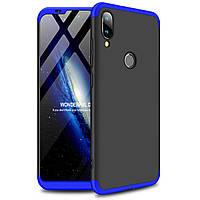 Чехол GKK 360 для Xiaomi Mi Play бампер оригинальный Black-Blue
