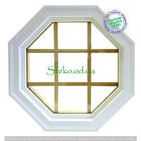 Чердачное окно восьмиугольник октагон со шпроссами