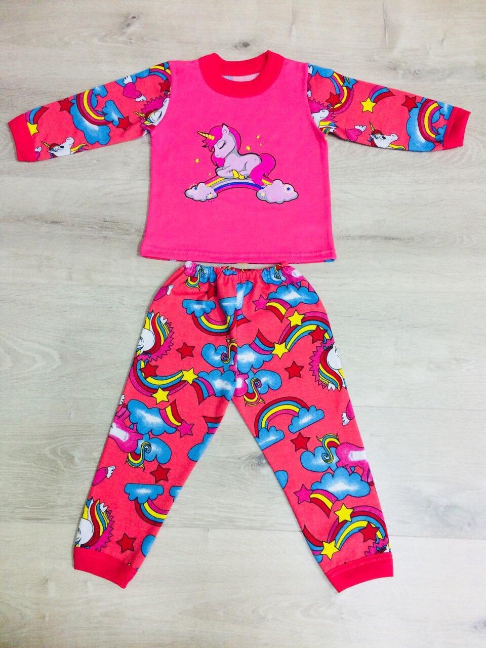 Пижама детская, футер комбинированный, р.80,86,92-98,104-110,116