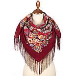 Весеннее пробуждение 1874-6, павлопосадский платок шерстяной  с шелковой бахромой, фото 2