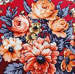 Весеннее пробуждение 1874-6, павлопосадский платок шерстяной  с шелковой бахромой, фото 3