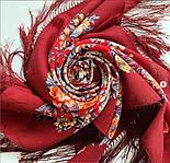 Весеннее пробуждение 1874-6, павлопосадский платок шерстяной  с шелковой бахромой, фото 9