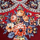 Весеннее пробуждение 1874-6, павлопосадский платок шерстяной  с шелковой бахромой, фото 5