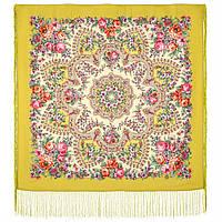 Весеннее пробуждение 1874-10, павлопосадский платок шерстяной  с шелковой бахромой, фото 1