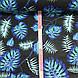 Хлопковая ткань польская листья папоротника фиолетово-бирюзово-белые на черном, фото 2