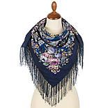 Весеннее пробуждение 1874-14, павлопосадский платок шерстяной  с шелковой бахромой, фото 2