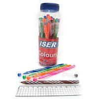 "Ручка гелевая ""Wiser"" Colours 0,6мм (банка / 30шт, корпус mix, синяя)"