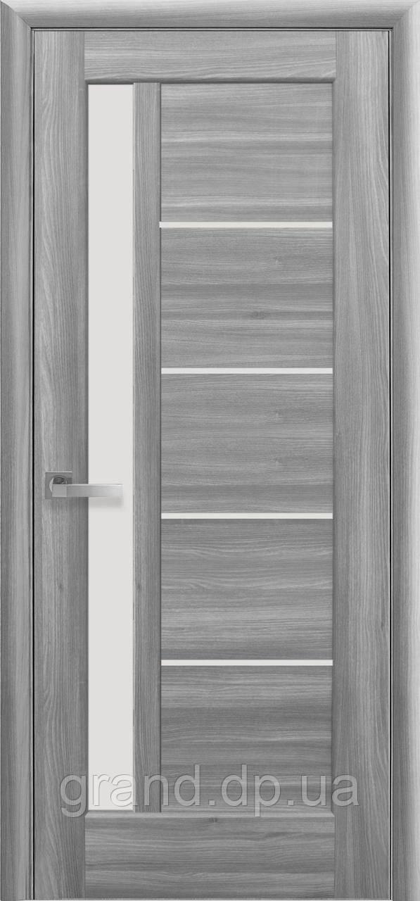 Межкомнатная дверь Грета ПВХ DeLuxe со стеком сатин,цвет бук пепельный