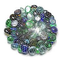 Камни для декора круглые цветные микс d 2 см