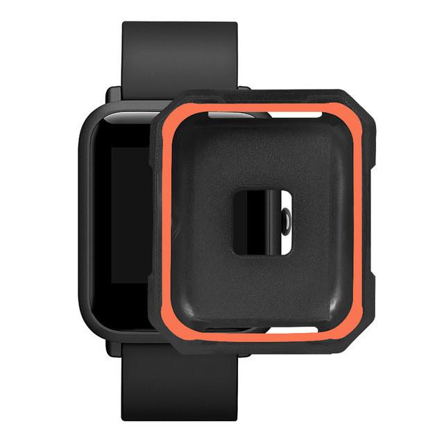 Чехол cиликоновый  для Xiaomi Amazfit Bip на весь корпус Black-Orange (20226)