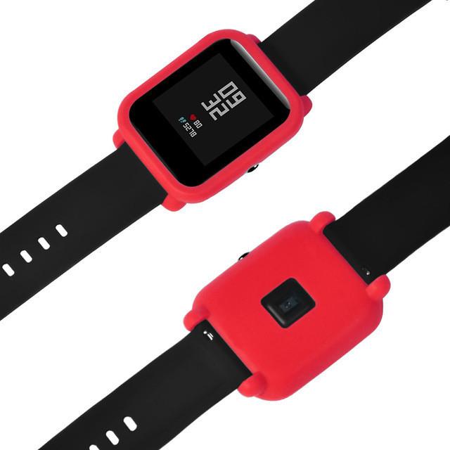 Чехол cиликоновый  для Xiaomi Amazfit Bip на весь корпус Red (20246)