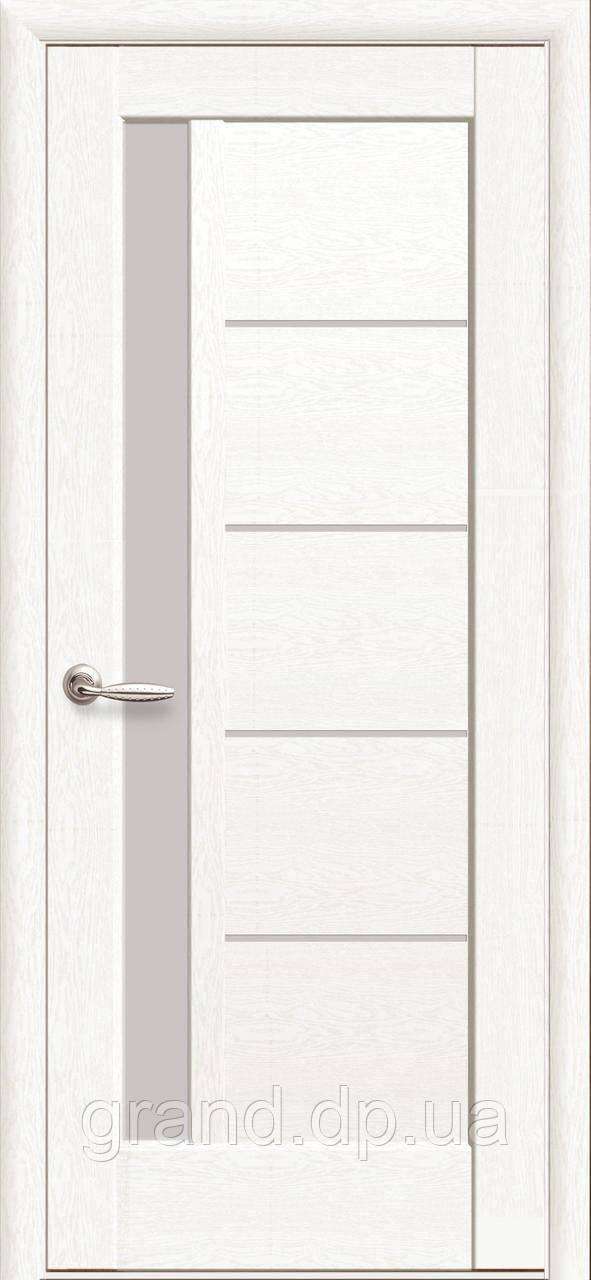 Межкомнатная дверь  Грета ПП Премиум с матовым стеклом, цвет белый матовый