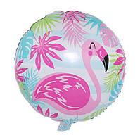 """Фольгированный шар """"Фламинго"""", 45*45 см"""