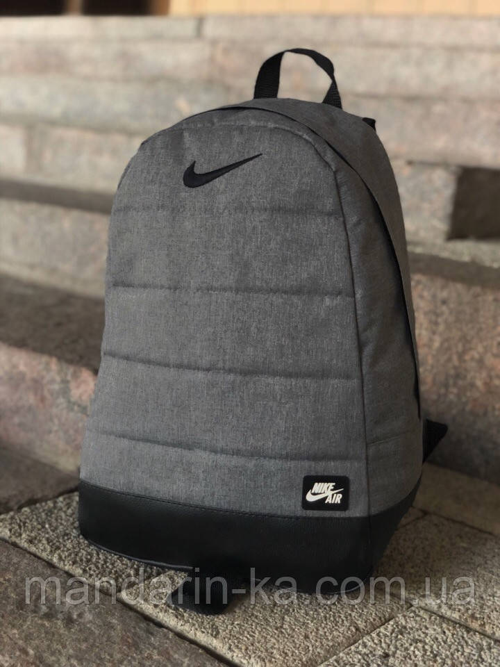 Рюкзак городской Nike Найк серый меланж (реплика)