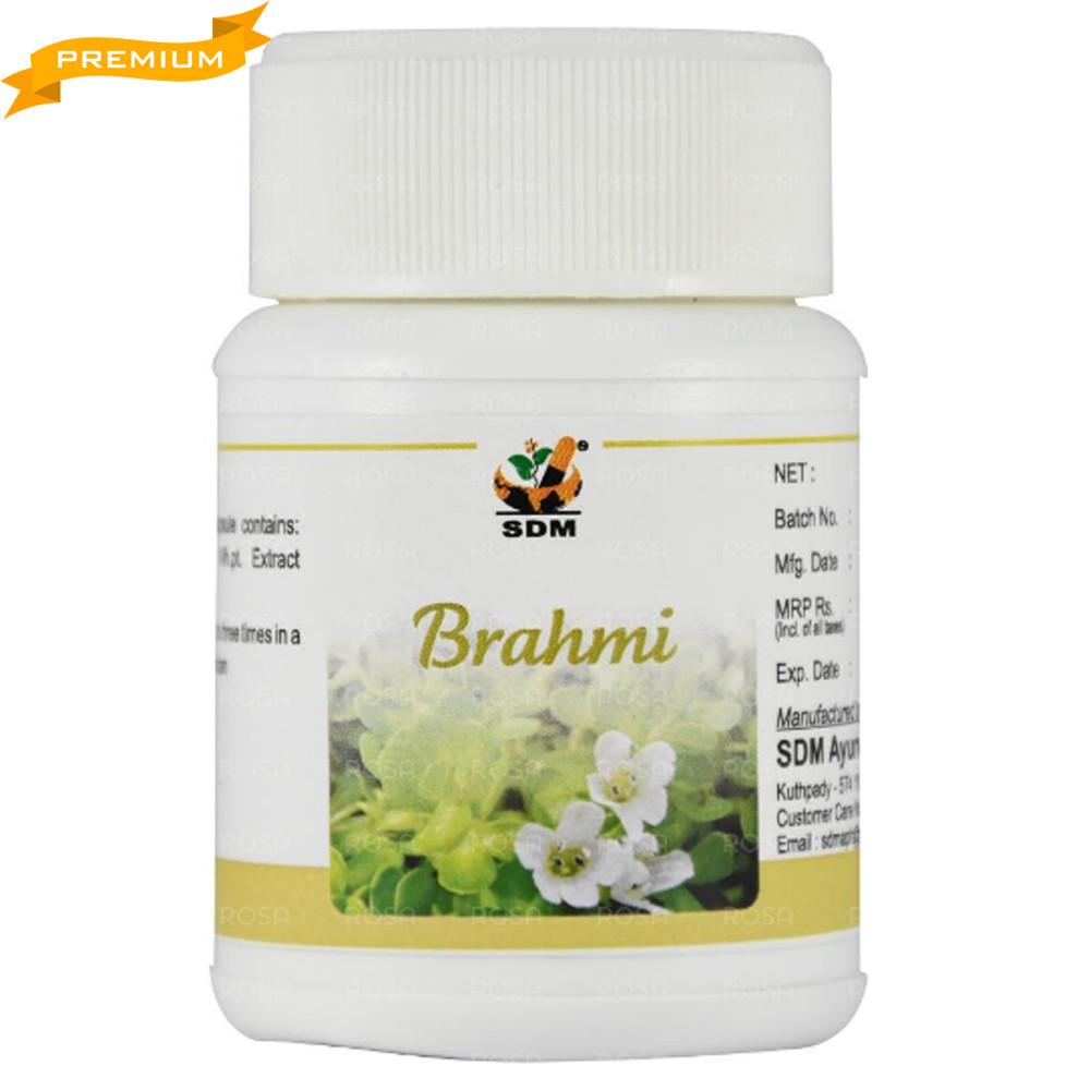 Брахми капсулы (Brahmi Capsules, SDM), 40 капсул - Аюрведа премиум качества