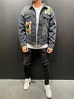 😜Мужская хайповая джинсовая куртка с картинками