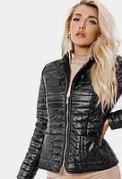 Модная черная женская куртка-пиджак,утепленная.