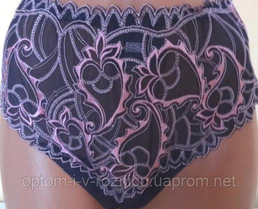 Трусы чёрно-розовые, оптом  (арт.9703)