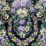 Павловопосадский 1816-9, павлопосадский хустку (шаль) з ущільненої вовни з шовковою бахромою в'язаної, фото 5