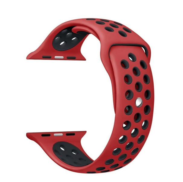 Силіконовий ремінець для Apple Watch 38/40 мм Red-Black (20603)