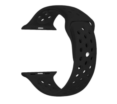 Силіконовий ремінець для Apple Watch 38/40 мм Black (20605)