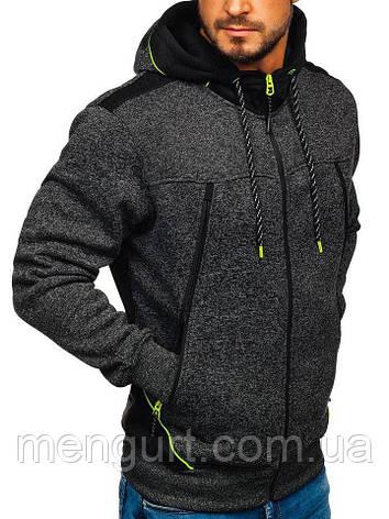 Толстовка(батник)мужская с капюшоном на застежке Польша, фото 2