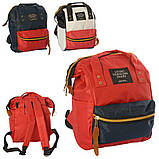 Сумка-рюкзак MK 2877, красно-белый, фото 3
